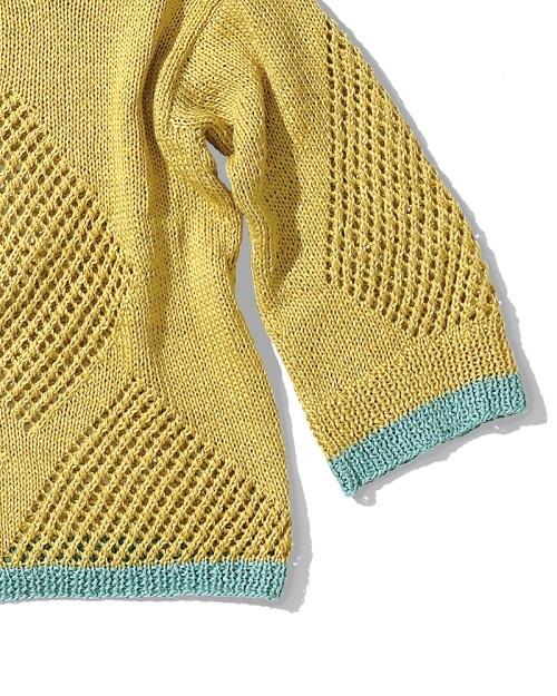 1722ピエロブリーズひし型模様のセーター部分