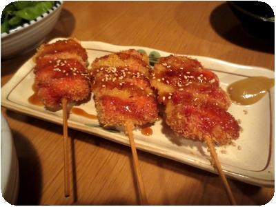 赤ウインナー(串揚げ・3本セット)