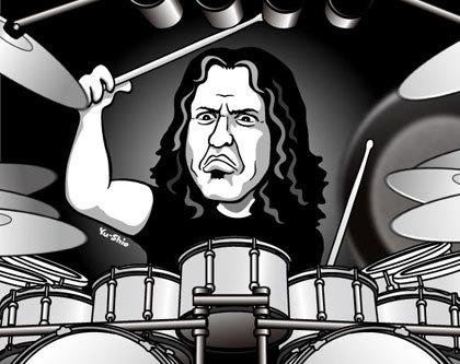 Mike Mangini Dream Theater caricature likeness