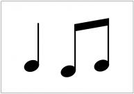 音譜のフリー素材テンプレート・画像・イラスト