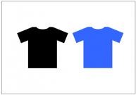 Tシャツのフリー素材テンプレート・画像・イラスト