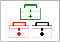 救急箱のフリー素材テンプレート・画像・イラスト