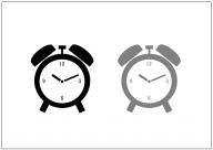 目覚まし時計のフリー素材テンプレート・画像・イラスト