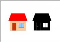 家(ハウス)のフリー素材テンプレート・画像・イラスト
