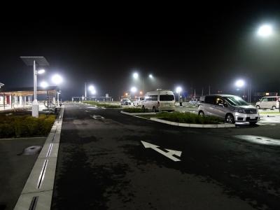 道の駅 常陸大宮 夜の駐車場