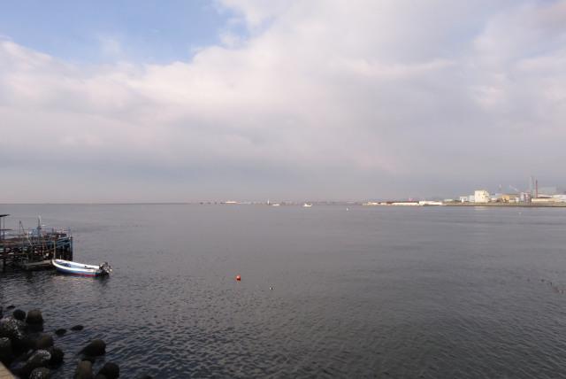 兵庫県尼崎市_武庫川河口の水面