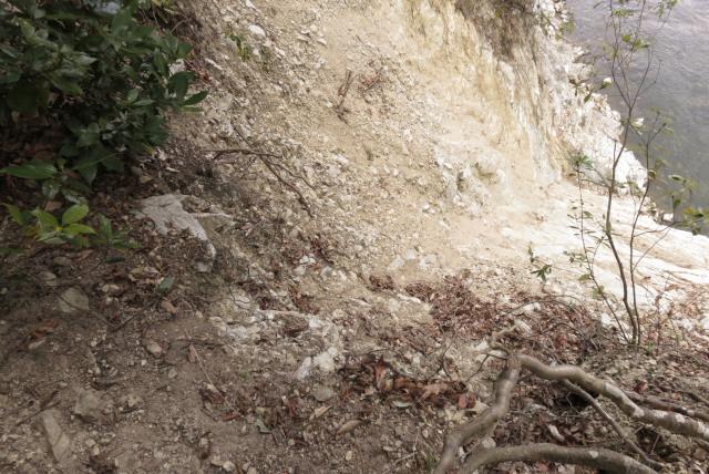 武庫川沿いに武田尾から道場へ_崩落した登山道