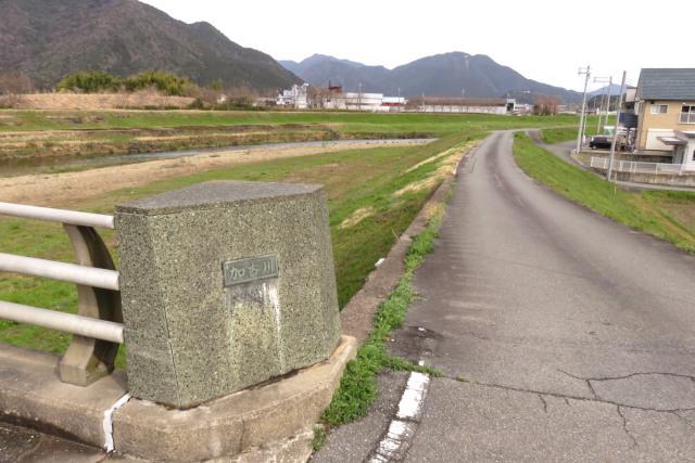 加古川の堤防へ