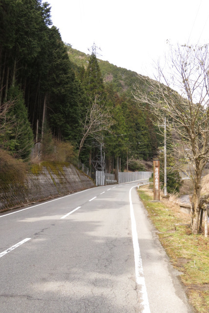 遠坂峠の車道を徒歩で越える