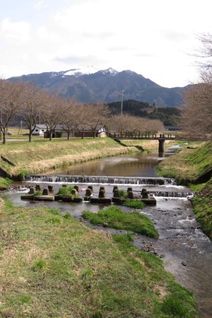 柴川と粟鹿川の合流地点