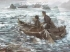 170506舟で漕ぎだす松陰と金子 弁天島の絵