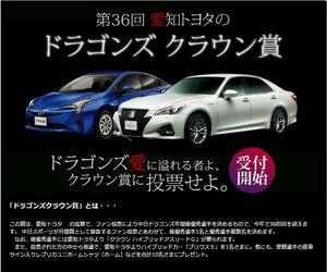 懸賞 第36回 愛知トヨタのドラゴンズ クラウン賞