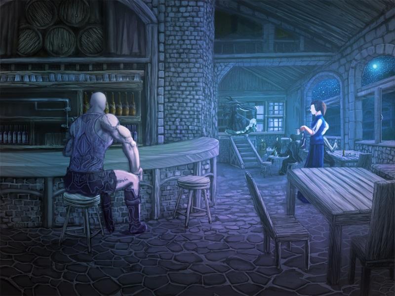 酒場(夜)人物アリ800×600