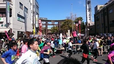 東京マラソン 富岡八幡宮