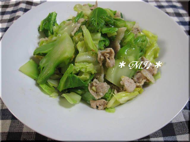 超便利!シーズニングスパイス♪『つぼみ菜とキャベツのアンチョビ炒め』