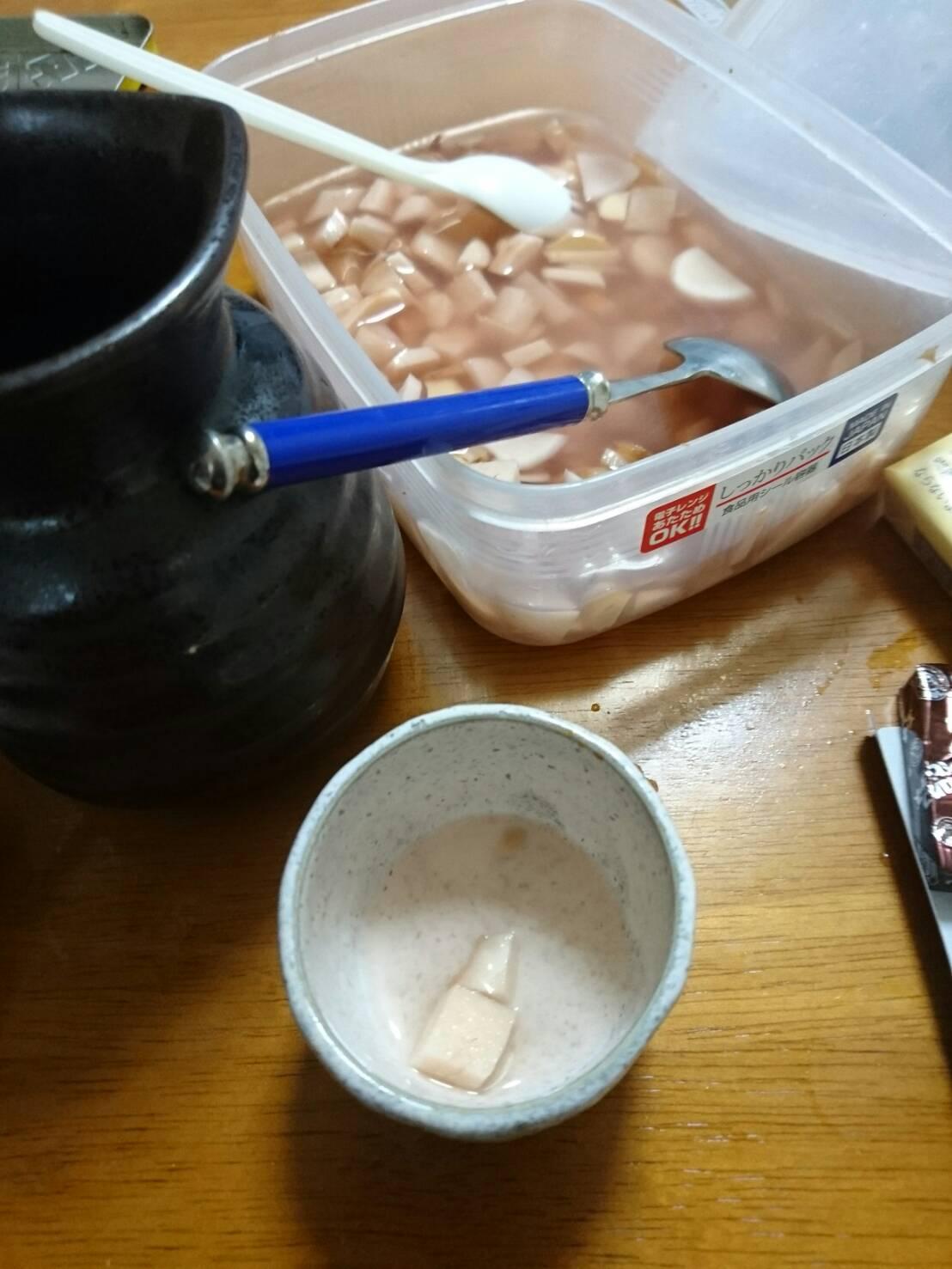 酢生姜に日本酒🍶