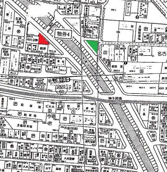 入札で購入赤色は管財課から一般入札、緑色は自治会長購入
