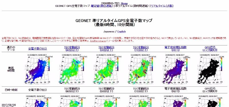 【電子数】熊本の大地震発生前後に上空の電離層に異常!京大が発表…巨大地震発生に前兆が?将来の地震予知に期待
