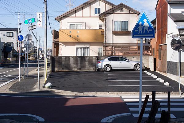 店跡の駐車場