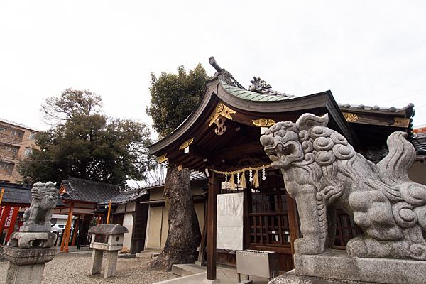 宗像神社拝殿と狛犬