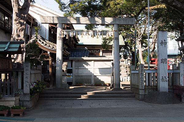 伊勢山神明神社入り口