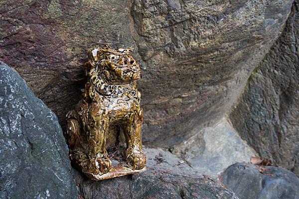 児子社陶製狛犬