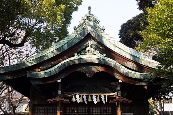 闇之森八幡社拝殿