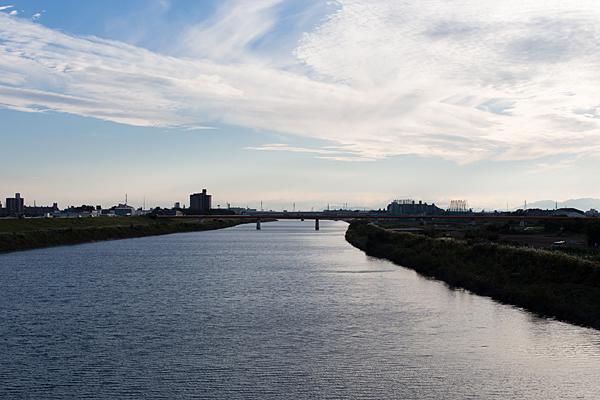 庄内川の流れ