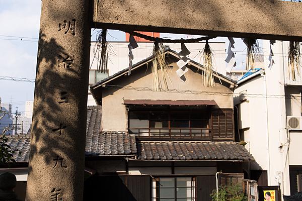 新栄白山神社北側鳥居