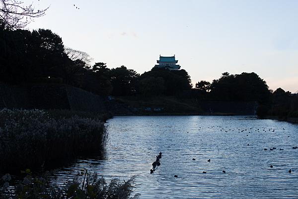 名古屋城天守冬の風景