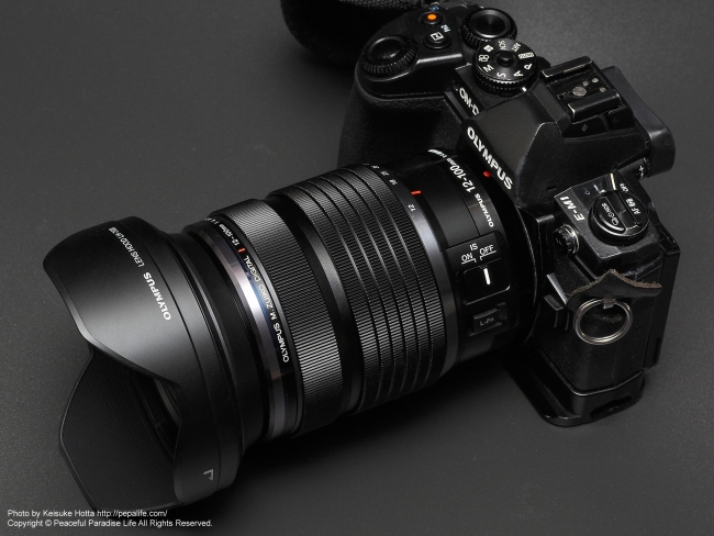 M.ZUIKO DIGITAL ED 12-100mm F4.0 IS PROをOM-D E-M5 MarkⅡに装着