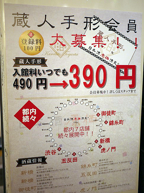 日本酒原価酒蔵