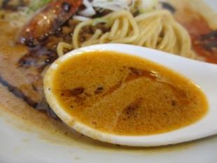 愛心 海老寿久担々麺 スープ (3)