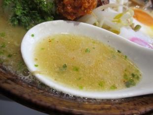 仁 辛味噌ラーメン スープ