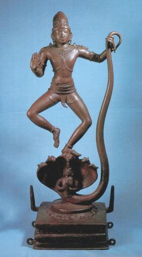 15カーリヤ竜を退治するクリシュナ