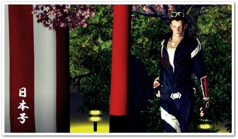 刀剣乱舞 日本号 衣装配布しました(sims3)