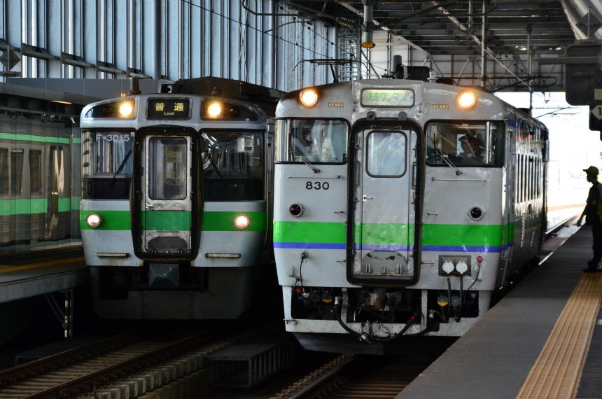 9/12-17 北海道&東日本パスの旅2016 北の大地で消えゆく鉄路を辿ります その20(旭川→札幌) あざらし見て、札幌へ