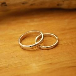 オーダーメイド 結婚指輪 ホワイトゴールド