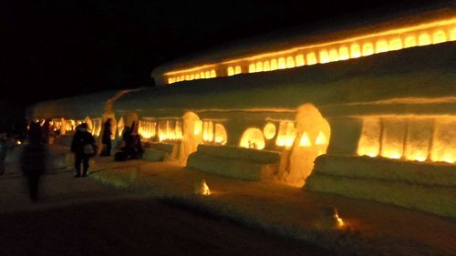 月山志津温泉雪旅籠の灯り11