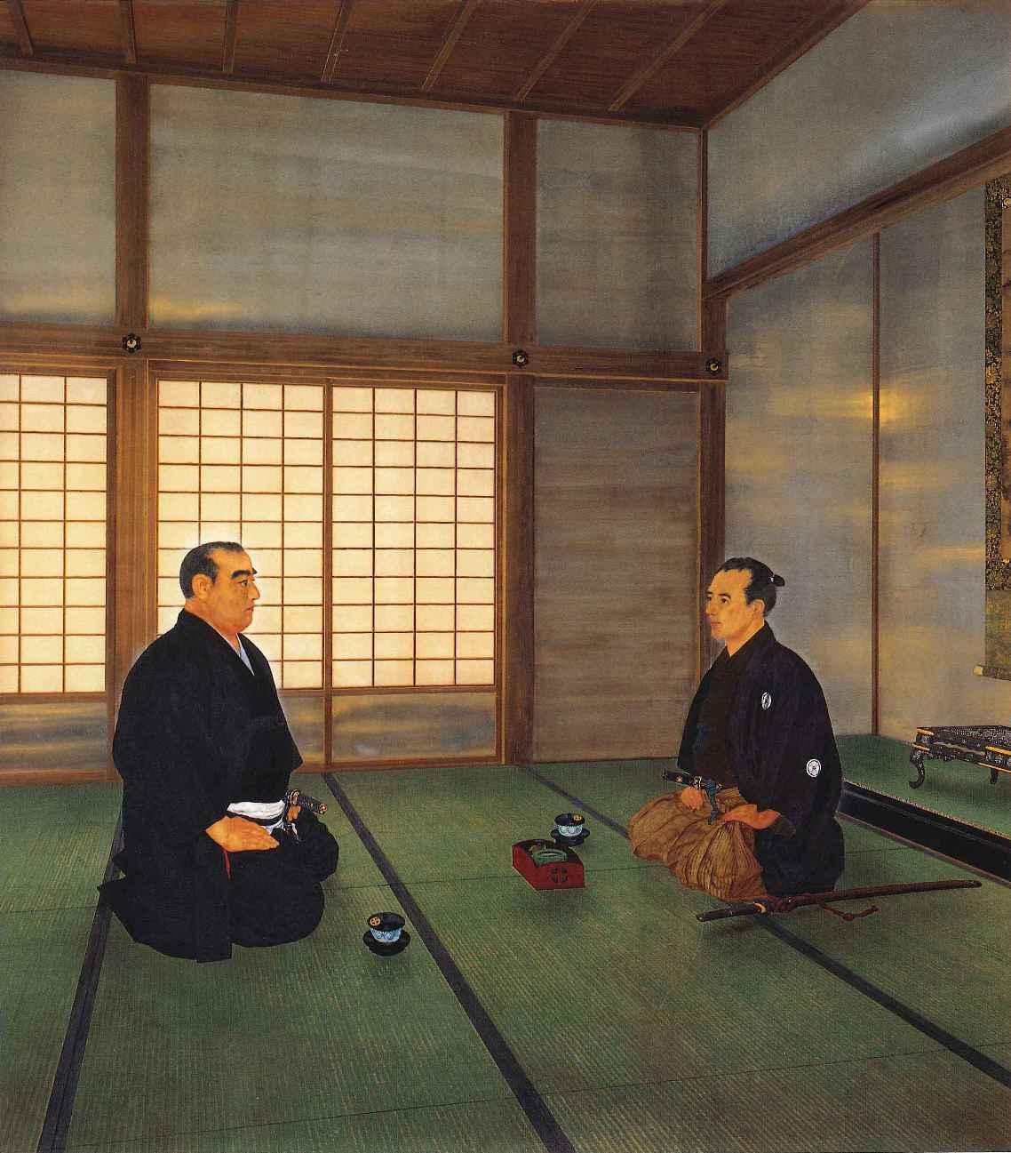 『江戸開城談判』聖徳記念絵画館壁画