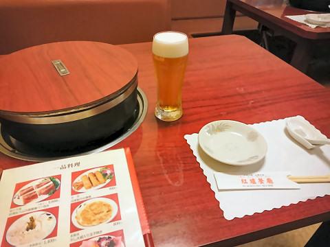 生ビール(スードラ)@紅爐餐廳 (ホンルーサンテン)