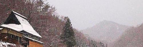 水彩くらぶ勉強会雪景色