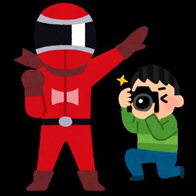 コスプレ、カメラ、ヒーロー、レッド