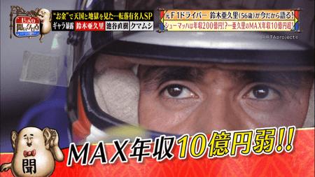鈴木亜久里のマックス年収
