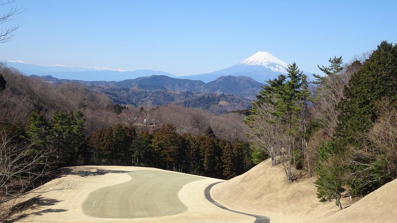 富士山はきれいだった修善寺カントリークラブ (2017年2月)